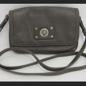 Marc by Marc Jacobs Gray Leather Crossbody Purse